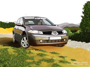 Renault Megane with MS Paint