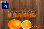 Orange Text Effect PSD Photoshop Layer Style