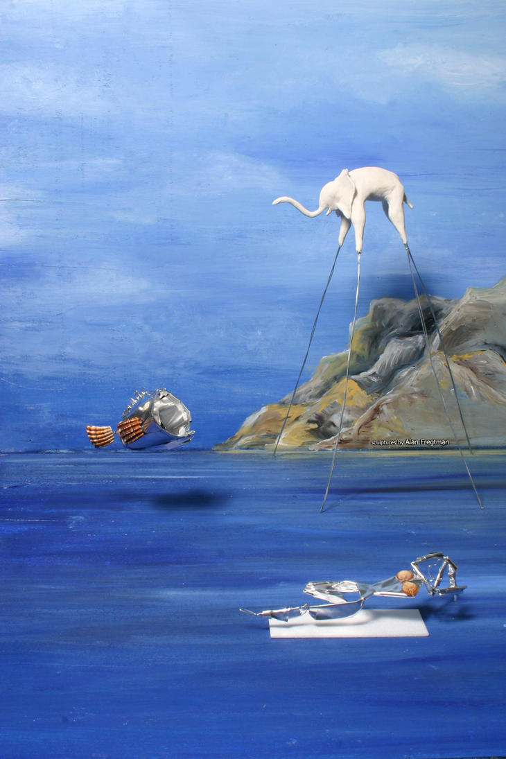 Inspired By Dali Painting by m0rpheus