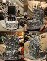 The Iron Throne - Stand for mobile by Falena-ananke
