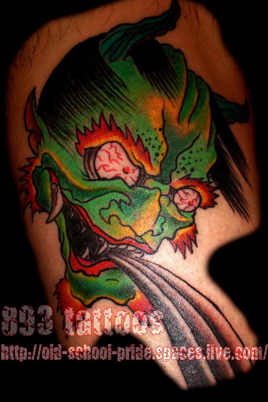 nice clean oni by gil893tattoos