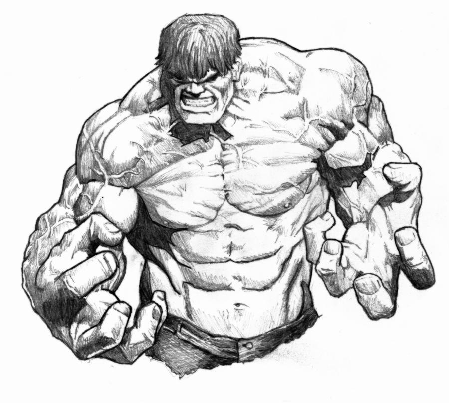 Hulk Face Line Drawing : Hulk sketch by scrove on deviantart