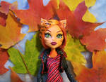 Monster High Toralei with Leaves. Pretty Werecat.