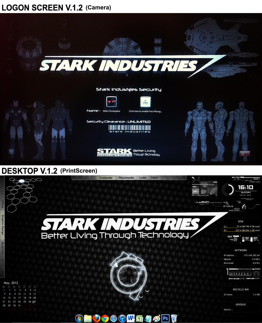 Stark Industries Rainmeter V 2 by mikejrpartnerStark Industries Png