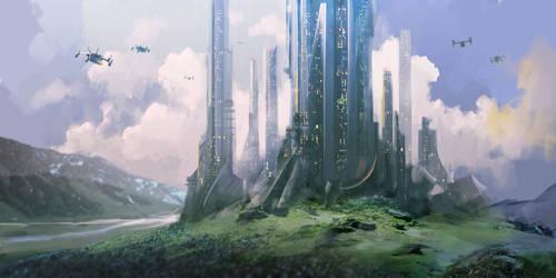 Castle Sci-Fi by Aleksei-Liakh