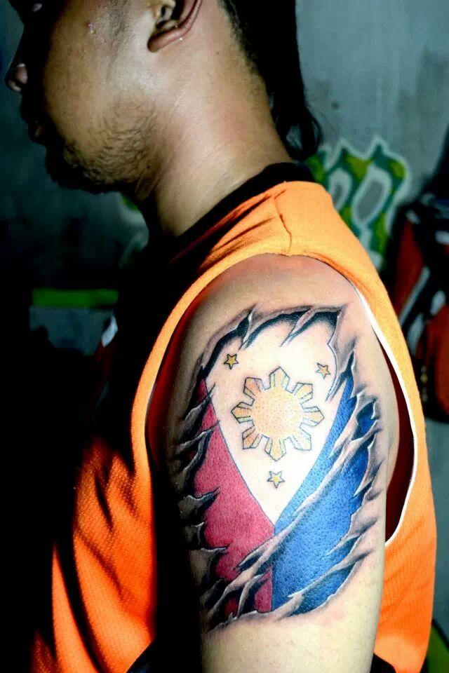 philippine flag tattoo by ran0690 on deviantart rh ran0690 deviantart com Philippine Traditional Tattoos Philippine Sun Tattoo