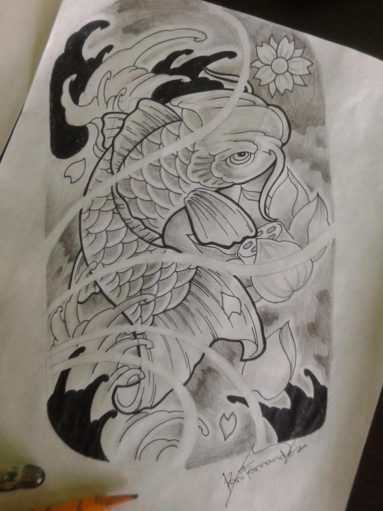 koi fish tattoo design by ran0690 on deviantart. Black Bedroom Furniture Sets. Home Design Ideas