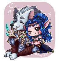 Chibi World of Warcraft Commission by Puppeh0draws
