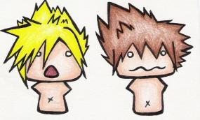 Cloud and Sora by cat-food