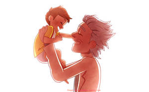 Rick with baby Morty ^^ by AnInnocentDemon