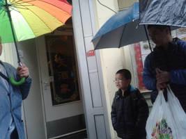 Rainbow in Chinatown. by EmilyEatworlD