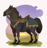 Disenchanted horse by Morglen