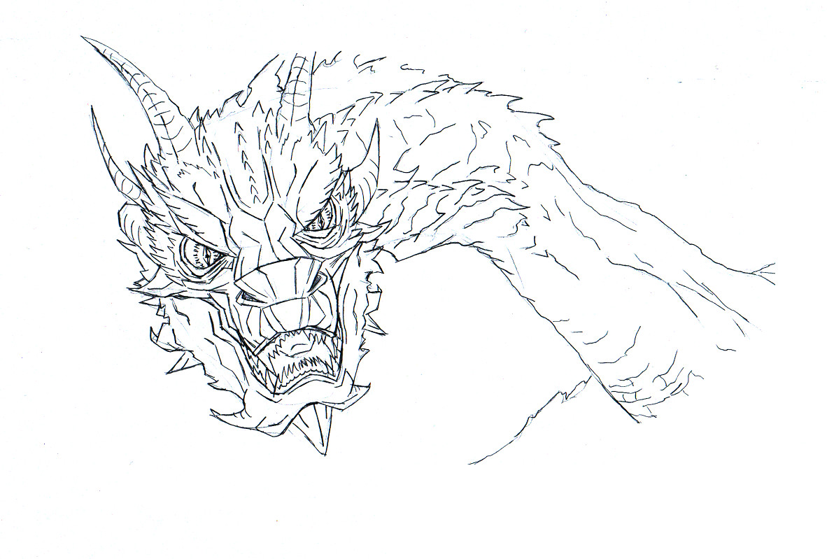 hobbit desolation of smaug dragon drawing outline sketch coloring page - Hobbit Dwarves Coloring Pages