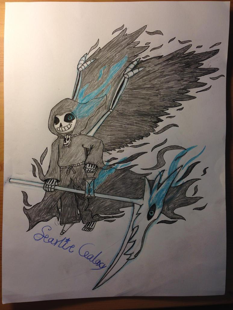Reaper!Sans by starlitgalaxy