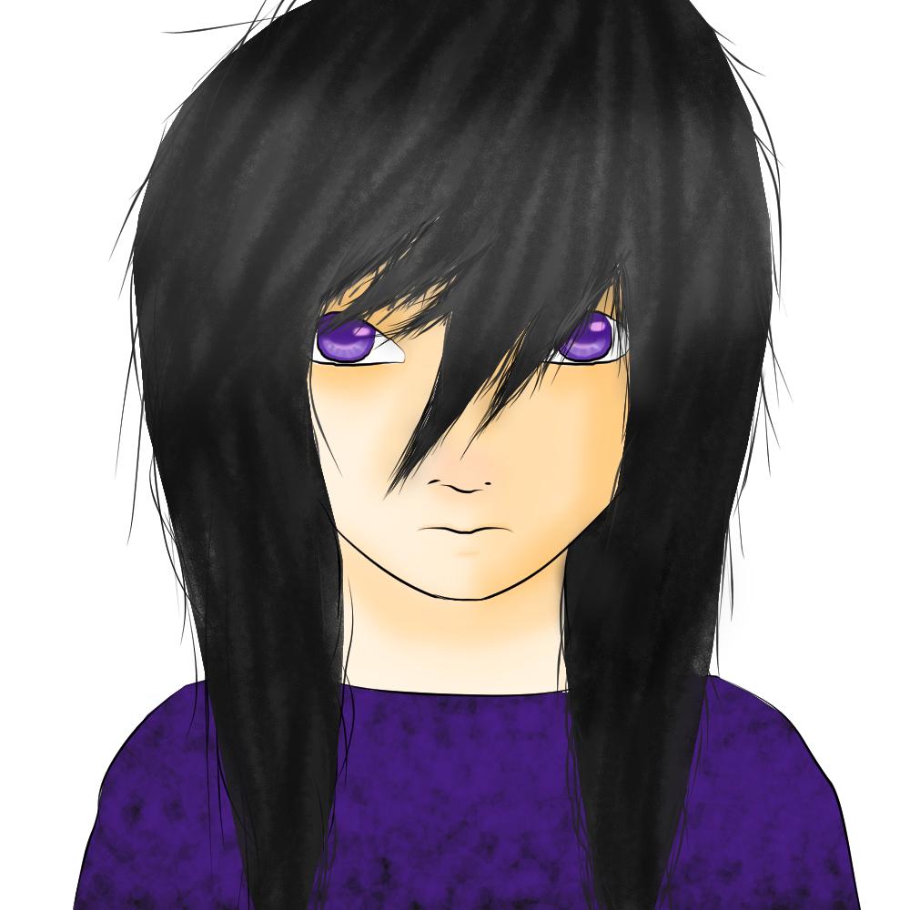 anime purple eyes black hair best black hair 2017