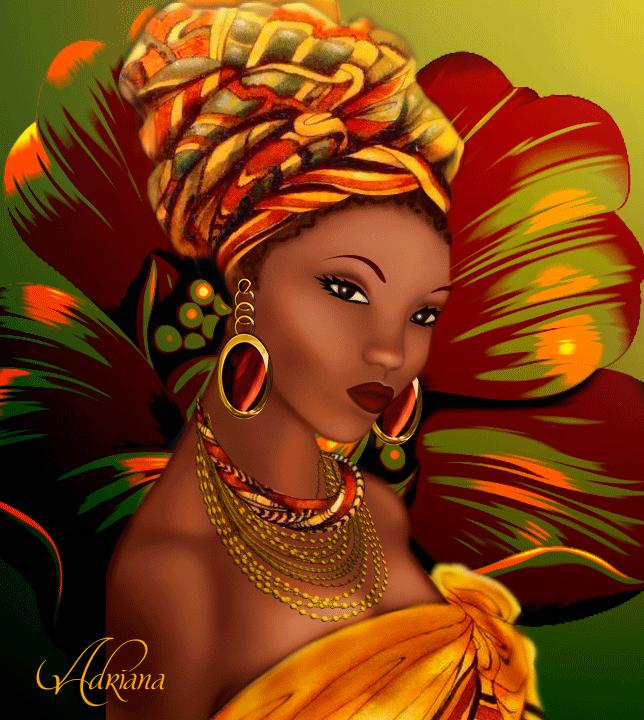 Dibujo de una africana by Adriana-Madrid