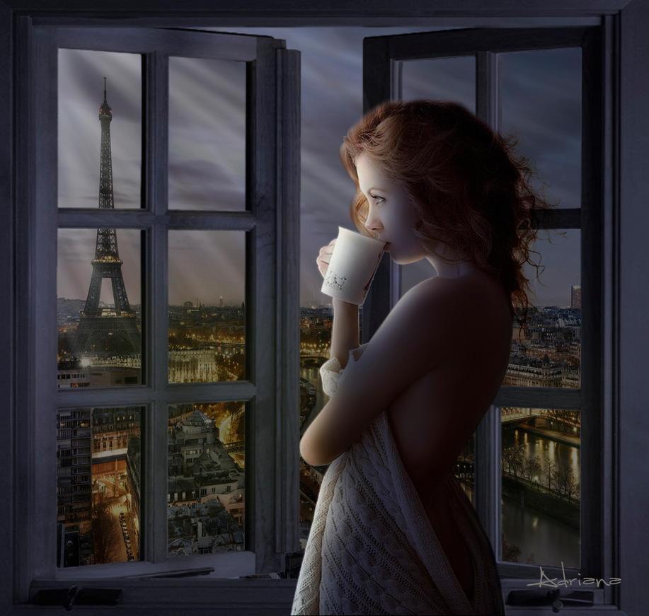 Paris  partir de la fentre by Adriana-Madrid