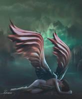 Fallen angel by Adriana-Madrid