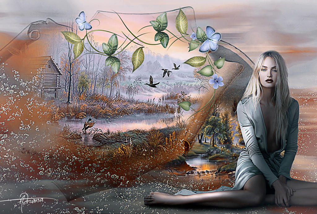 Imagining the paradise by Adriana-Madrid
