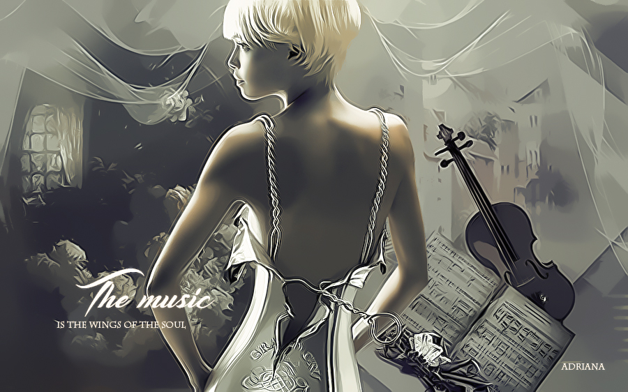 The music is the wings of the soul by Adriana-Madrid