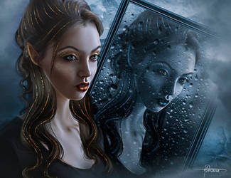 Rain in the mirror by Adriana-Madrid