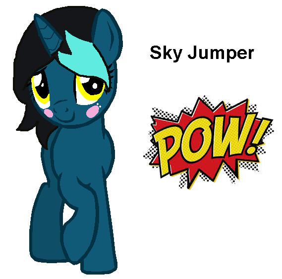 Sky Jumper by bluewolfpups