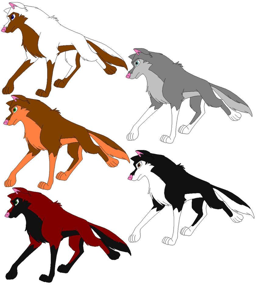 Husky-Wolf for Sandym by bluewolfpups