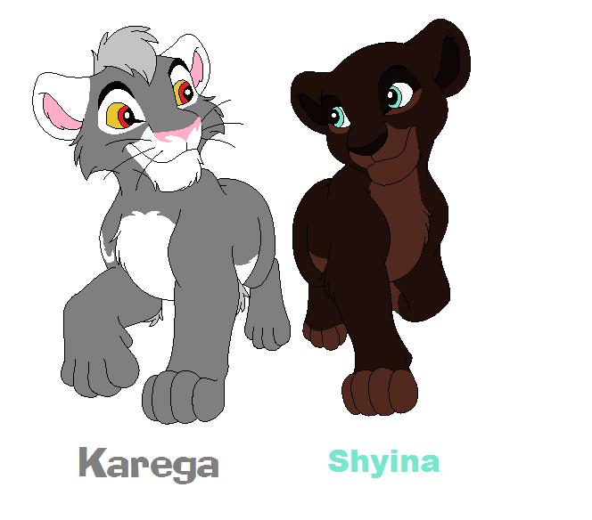 Karega and Shyina by bluewolfpups