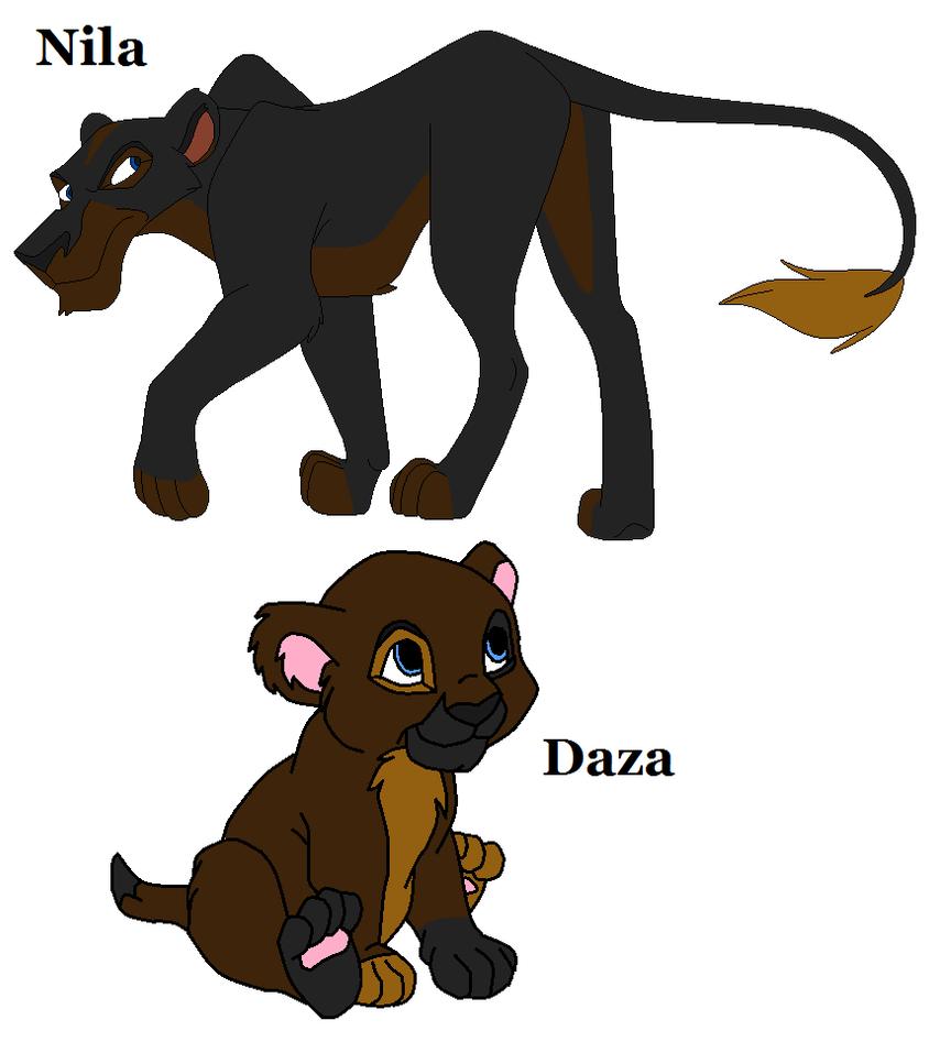 Nila and Daza by bluewolfpups