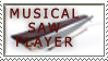 musical saw player stamp by PanZhen3