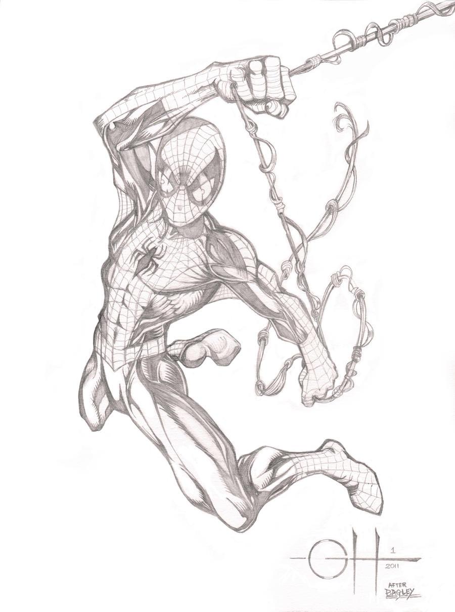 Spider-Man (Pencils After Bagley) By Rhixart On DeviantArt