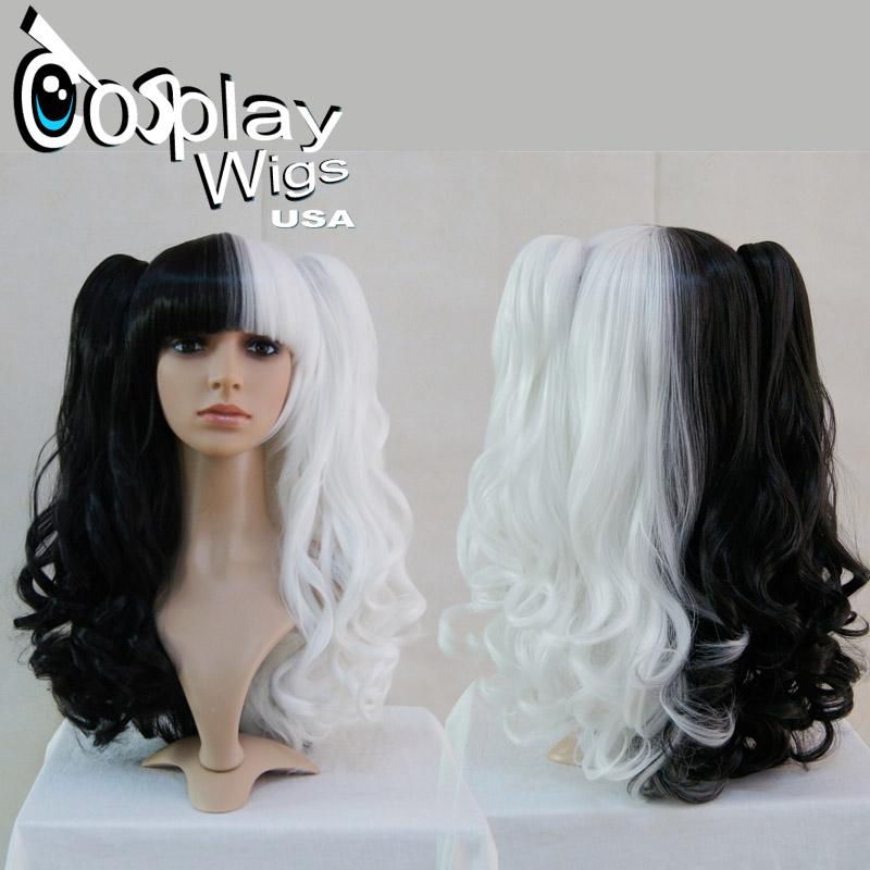 Black And White Split Wig 108