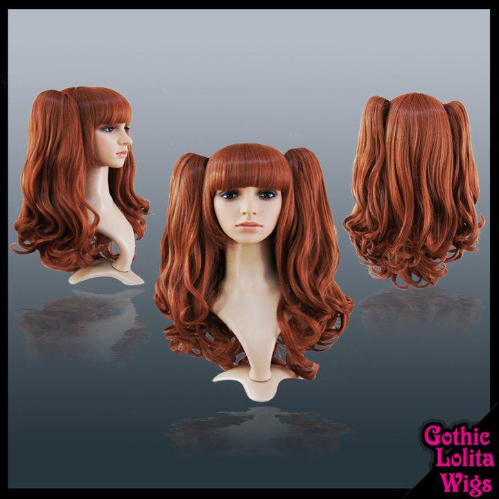 Wavy Auburn Rust Wig by GothicLolitaWigs