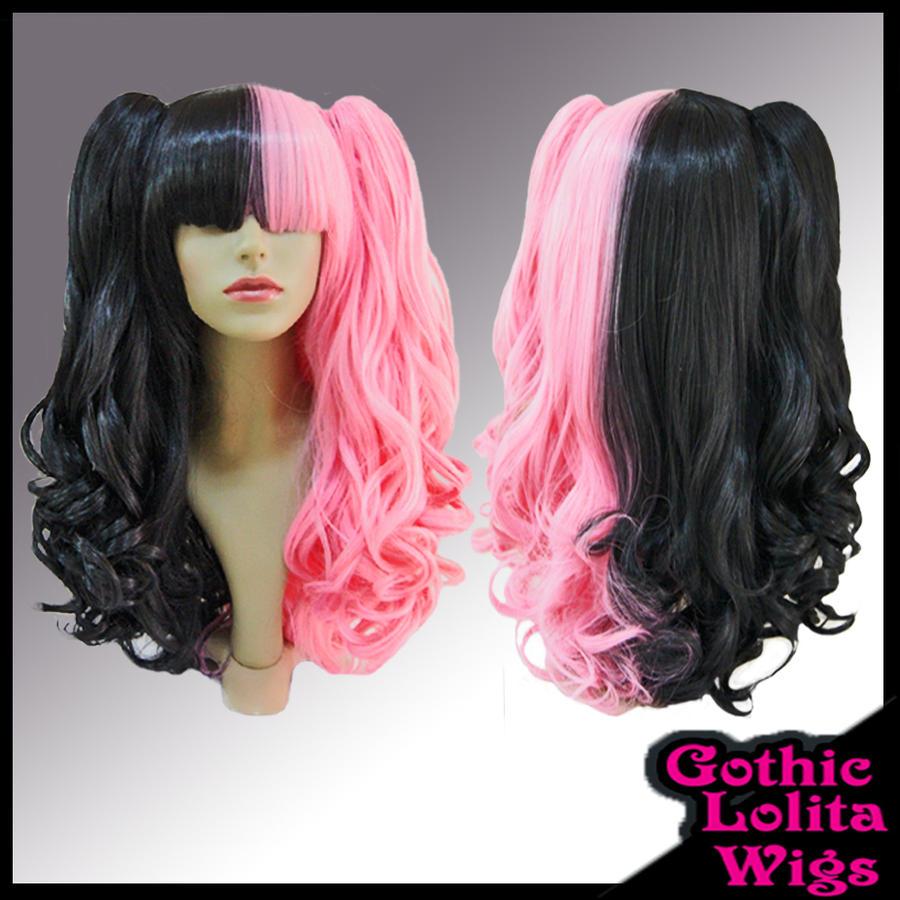 Black And Pink Split Wig 119
