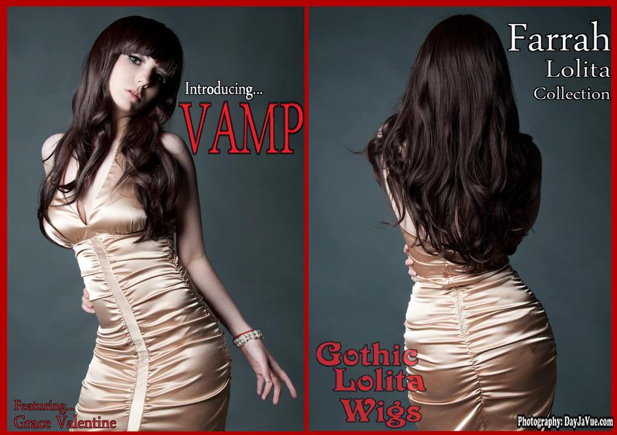 Farrah Lolita Wig - Vamp by GothicLolitaWigs
