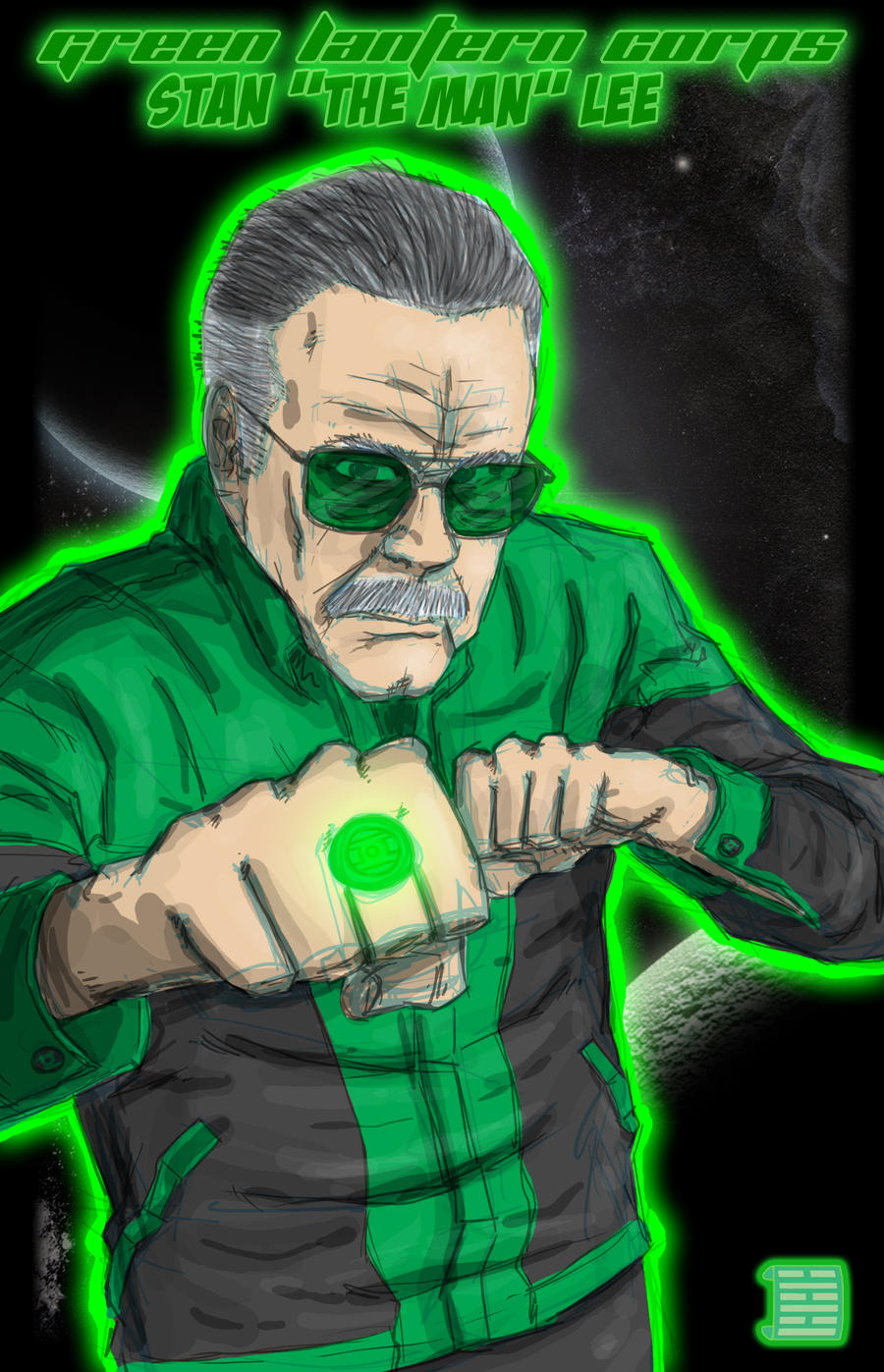 Green Lantern Stan Lee by thesometimers