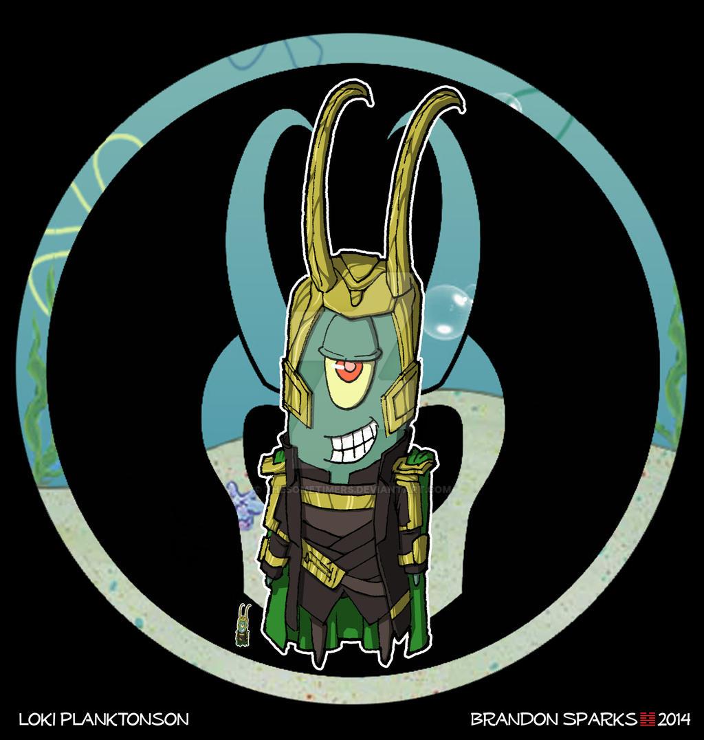 Spongebob Avengers--Loki Planktonson by thesometimers