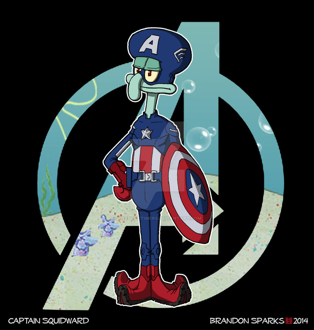 Spongebob Avengers--Captain Squidward By Thesometimers On