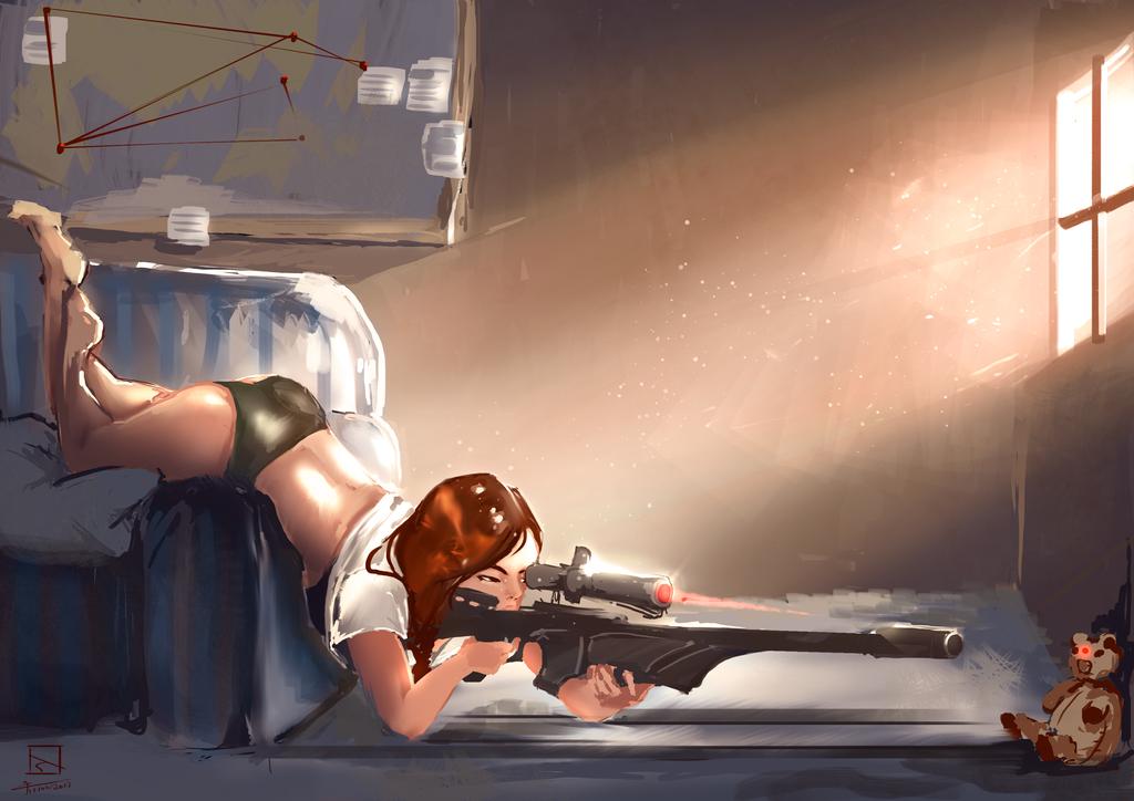 Yan the sniper by wiwinn