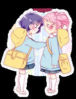 Chibiusa and Hotaru by kyaanii