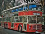 Old double decker bus