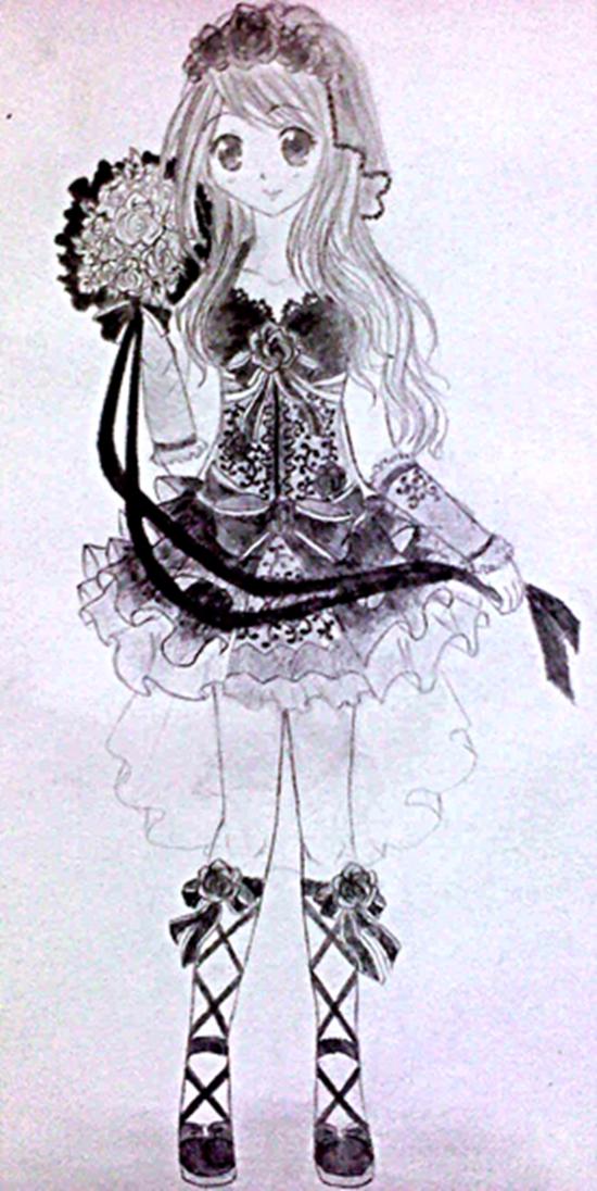 My design of Black Wedding Dress by FluffyFluffie
