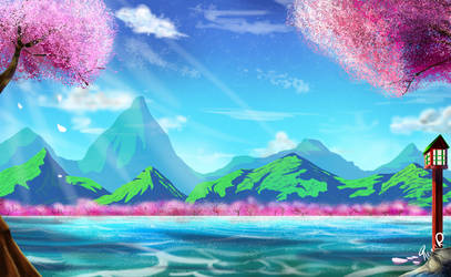 (Zeroes) Anime Background Art by miitoons