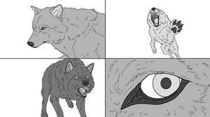 Wolf Lineart (TheSodaSmuggler)