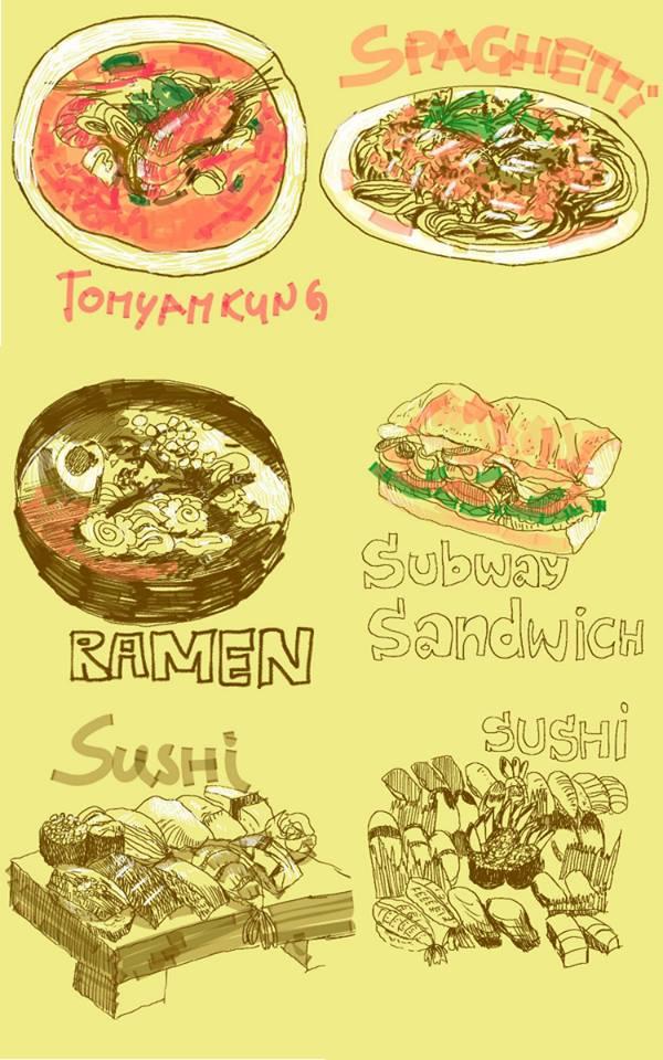 Food sketch by meisan