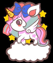 Chibi unicorn by meisan