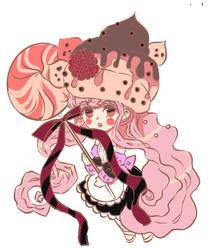 Chocolate raspberry cupcakes by meisan