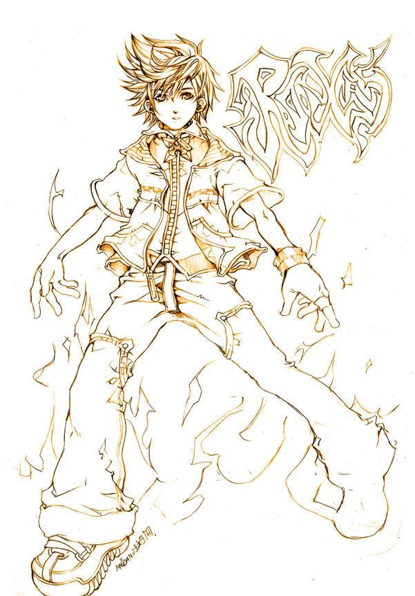 ROXAS:Kingdom Hearts II by meisan