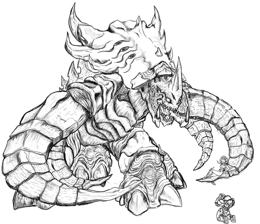 Ultralisk by loroco on deviantart for Starcraft coloring pages