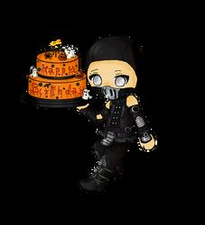 Happy Birthday Point Commission - Noob Saibot by MeriFren